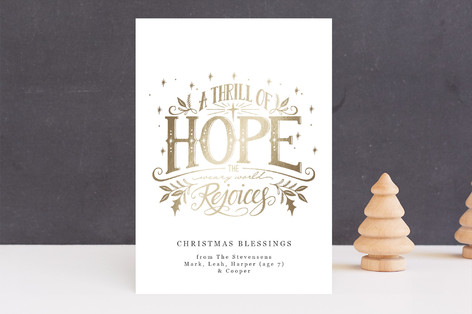 The World Rejoices Foil-Pressed Holiday Cards