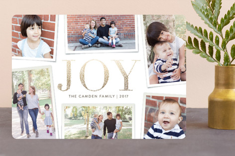 Sparkled Joy Foil-Pressed Holiday Cards