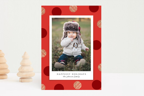 Dotted Foil-Pressed Holiday Cards