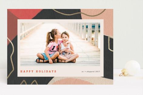 Dancing Frame Foil-Pressed Holiday Cards