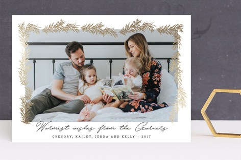 modern tinsel Foil-Pressed Holiday Cards