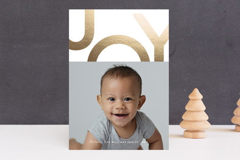 Pure Joy Foil-Pressed Holiday Cards