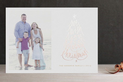 Merry Wish Foil-Pressed Holiday Cards