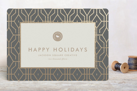 West Coast Foil-Pressed Holiday Cards