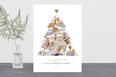 Complete Tree Foil-Pressed Holiday Cards