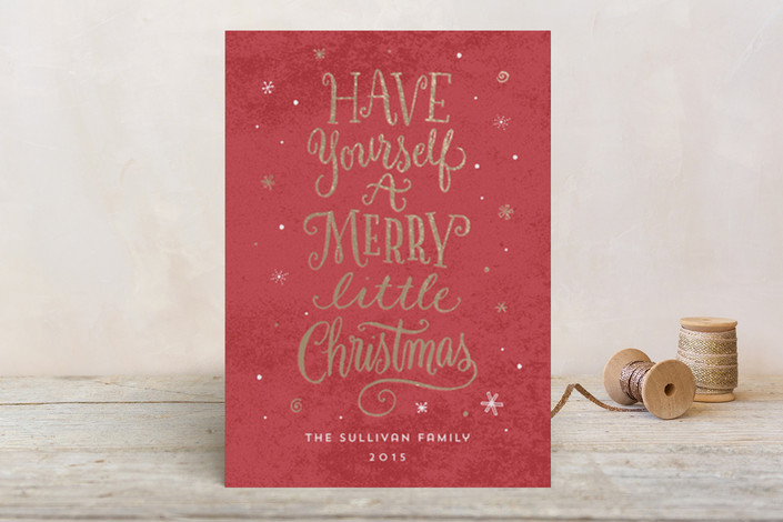 A Little Christmas Whimsy Foil-Pressed Holiday Cards