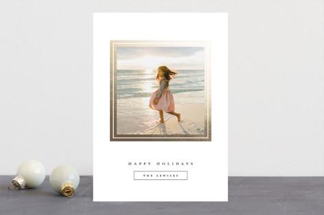 Gilded Frame Foil-Pressed Holiday Cards
