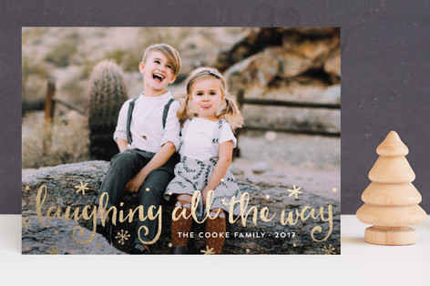 Laughter & Love Foil-Pressed Holiday Cards