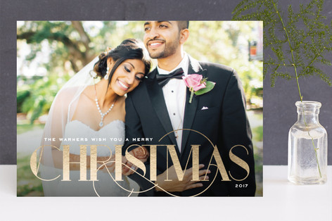 Classic Charm Foil-Pressed Holiday Cards