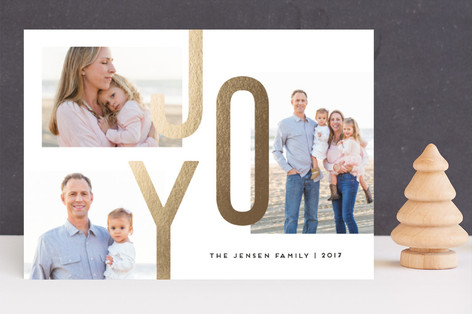 Joy Always Foil-Pressed Holiday Cards