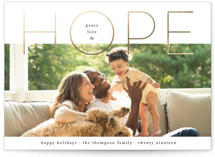 Filled With Hope Foil-Pressed Holiday Cards