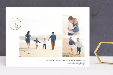 Year-Round Happiness Foil-Pressed Holiday Cards