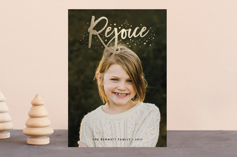 Rejoice Foil-Pressed Holiday Cards