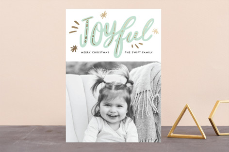 joyfully gilded Foil-Pressed Holiday Cards