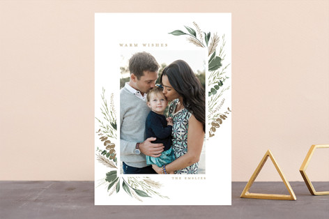 Eucalyptus & Pine Foil-Pressed Holiday Cards