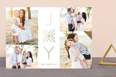 Simple Joy Foil-Pressed Holiday Cards