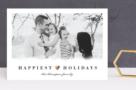 Happiest Winter Holidays Foil-Pressed Holiday Cards