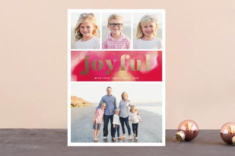 Joyful Holidays Foil-Pressed Holiday Cards