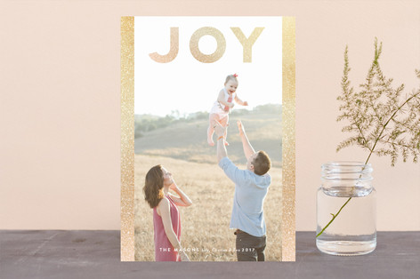 Joy Sparkle Foil-Pressed Holiday Cards