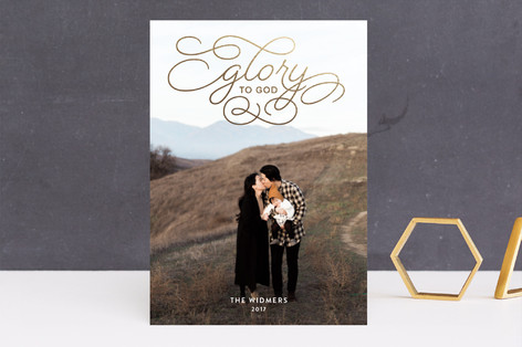 Sweet Glory Foil-Pressed Holiday Cards