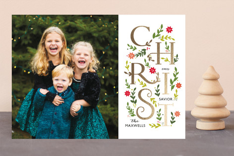 Christ is the reason Foil-Pressed Holiday Cards
