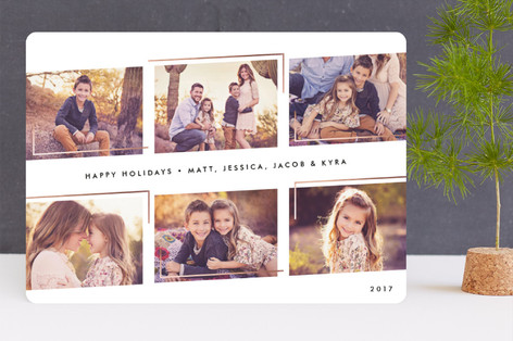 Sleek & Chic Foil-Pressed Holiday Cards