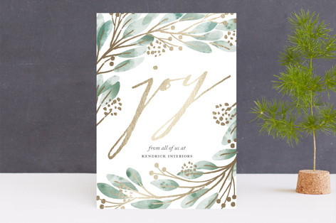 nested joy Foil-Pressed Holiday Cards