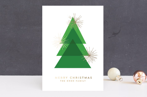 Gilded Fir Foil-Pressed Holiday Cards