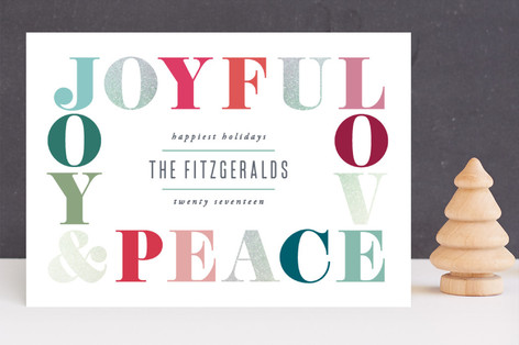 Merry Jolly Joy Foil-Pressed Holiday Cards
