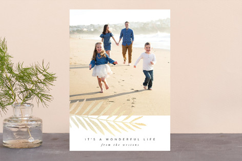 Frond Foil-Pressed Holiday Cards