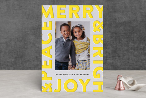 Boldly Pressed Letterpress Holiday Photo Cards