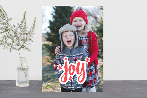 Much Joy Letterpress Holiday Photo Cards