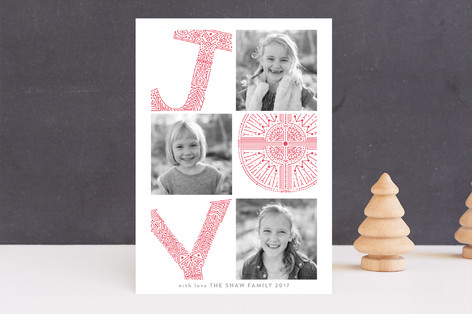 pressed for joy Letterpress Holiday Photo Cards
