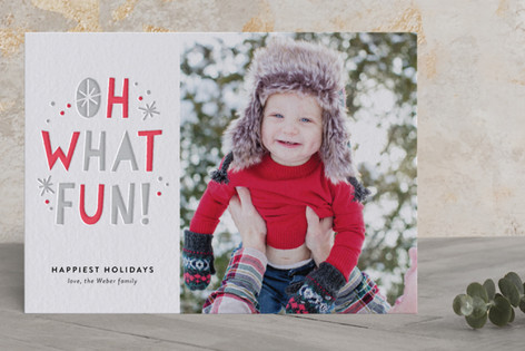 So Much Fun Letterpress Holiday Photo Cards