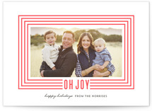 Joyful Path Letterpress Holiday Photo Cards