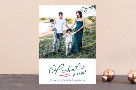 Oh So Much Fun Letterpress Holiday Photo Cards