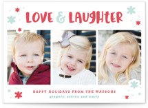 Love & Laughs Letterpress Holiday Photo Cards