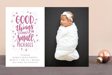 Good Things Letterpress Holiday Photo Cards