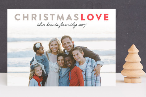 Christmas Love Letterpress Holiday Photo Cards