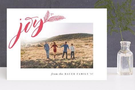 Season for Joy Letterpress Holiday Photo Cards