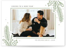 Statement Botanicals Letterpress Holiday Photo Cards