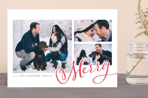 Merry Swash Letterpress Holiday Photo Cards