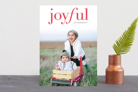 Joyful Tidings Letterpress Holiday Photo Cards