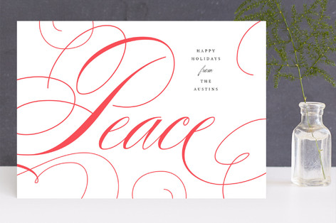 Adorned Peace Letterpress Holiday Photo Cards