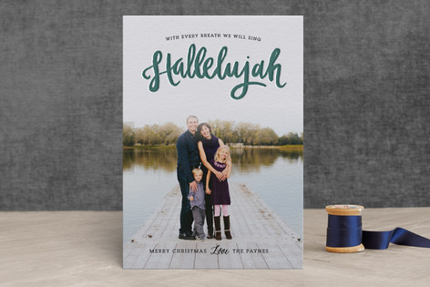 Hallelujah Letterpress Holiday Photo Cards
