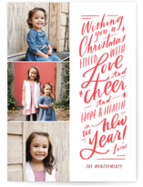 Love and Cheer Letterpress Holiday Photo Cards