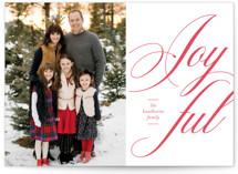 Spirited Joy Letterpress Holiday Photo Cards