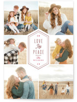 Vintage Love Joy Peace Letterpress Holiday Photo Cards