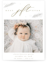 Best Gift Ever Letterpress Holiday Photo Cards