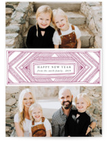 Deco Band Letterpress Holiday Photo Cards